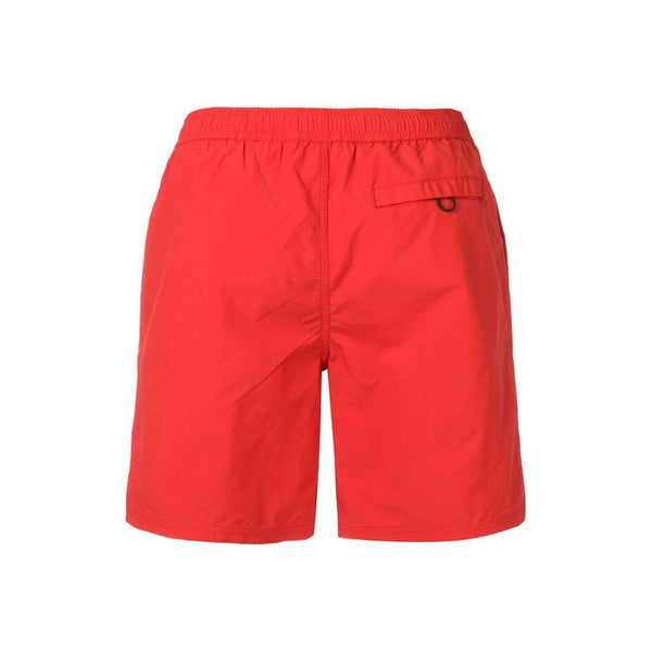 KENZO Logo Swim Shorts, Medium Red-OZNICO