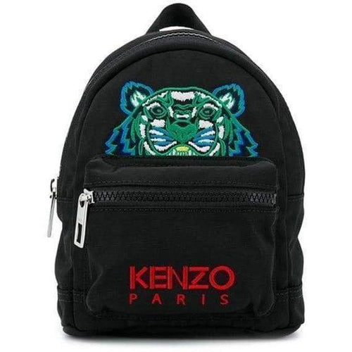 KENZO Mini Tiger Canvas Backpack, Black-OZNICO
