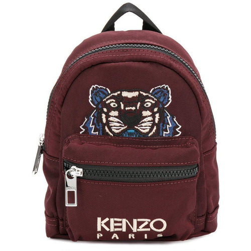 KENZO Mini Tiger Canvas Backpack, Bordeaux-OZNICO