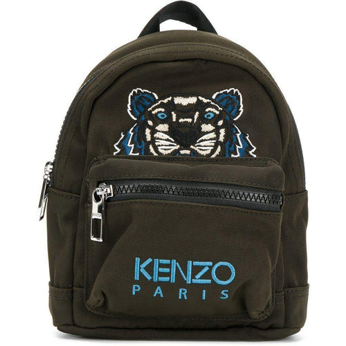 KENZO Mini Tiger Canvas Backpack, Khaki-OZNICO