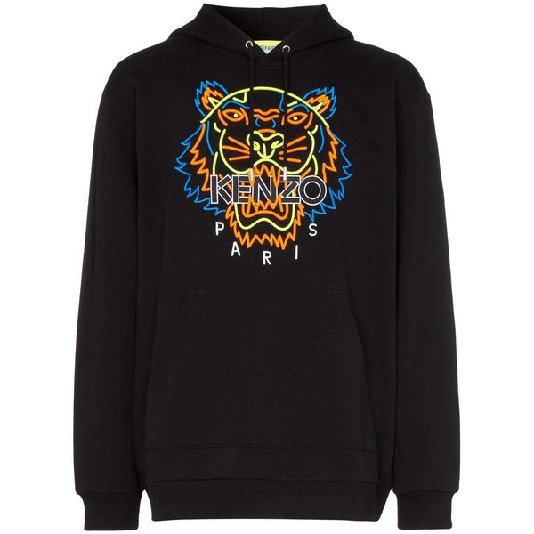 49eec769 KENZO Neon Tiger Embroidered Hooded Sweatshirt, Black-OZNICO ...