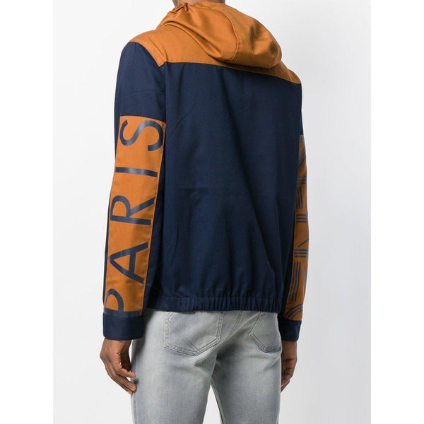 KENZO PARIS Hooded Jacket, Navy Blue-OZNICO