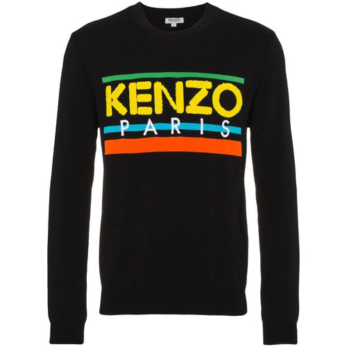 KENZO Paris Knit Sweater, Black-OZNICO