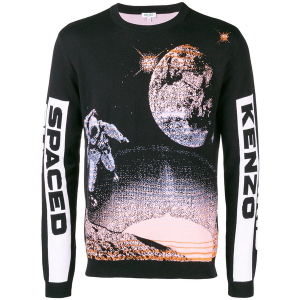 KENZO Spaced Out Sweater, Black-OZNICO