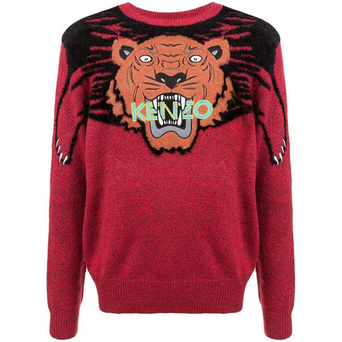 KENZO Tiger Sweater, Medium Red-OZNICO