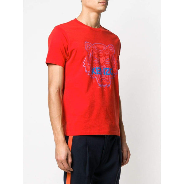 KENZO Two-Tone Tiger T-Shirt, Medium Red-OZNICO