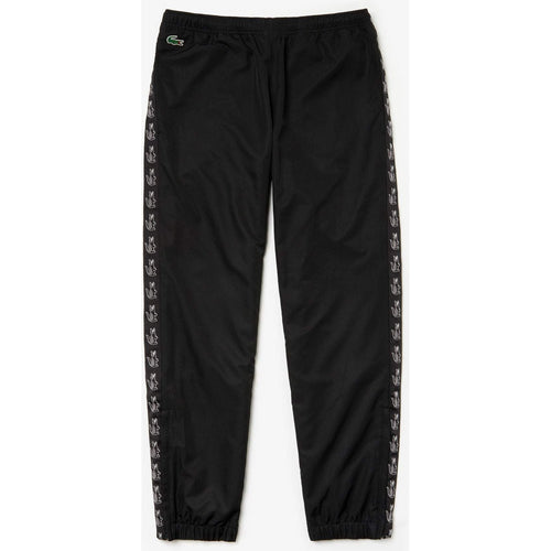 LACOSTE Sport Band Tennis Sweatpants, Black-OZNICO