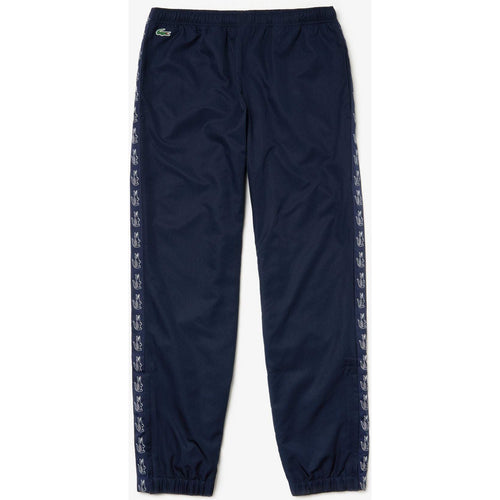 LACOSTE Sport Band Tennis Sweatpants, Navy Blue-OZNICO