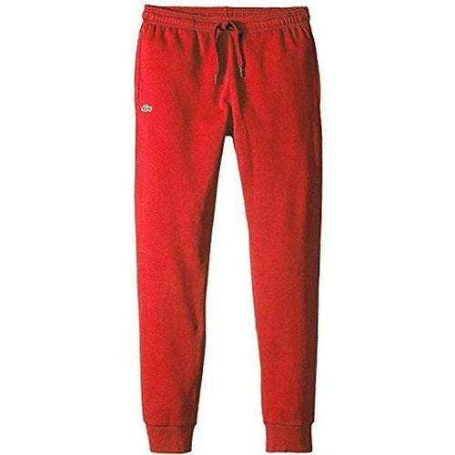 LACOSTE Sport Cotton Sweatpants, Red-OZNICO