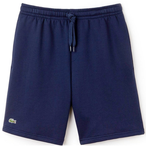 LACOSTE Sport Fleece Shorts, Navy Blue-OZNICO