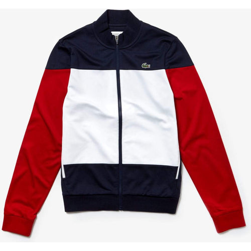 LACOSTE Sport Tennis Jacket, Navy Blue/ White/ Red-OZNICO