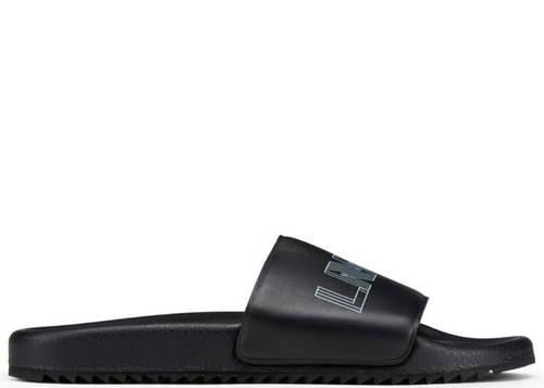 LANVIN Logo Pool Slides, Black-OZNICO