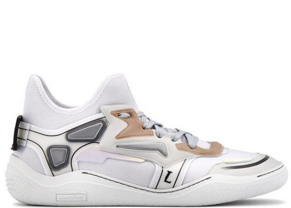LANVIN Neoprene Diving Sneaker, White/ Light Grey-OZNICO