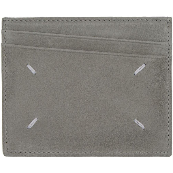 MAISON MARGIELA Credit Card Holder, Grey Paint Splatter-OZNICO