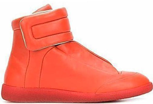 MAISON MARGIELA Men's Future Hi-Top Sneaker, Orange-OZNICO