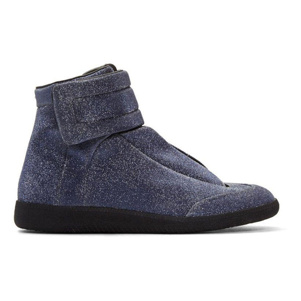 MAISON MARGIELA Men's Future High-Top Sneakers, Navy Glitter-OZNICO