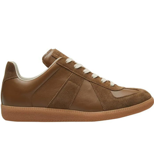 MAISON MARGIELA MENS REPLICA LOW TRAINER, Dark Khaki-OZNICO
