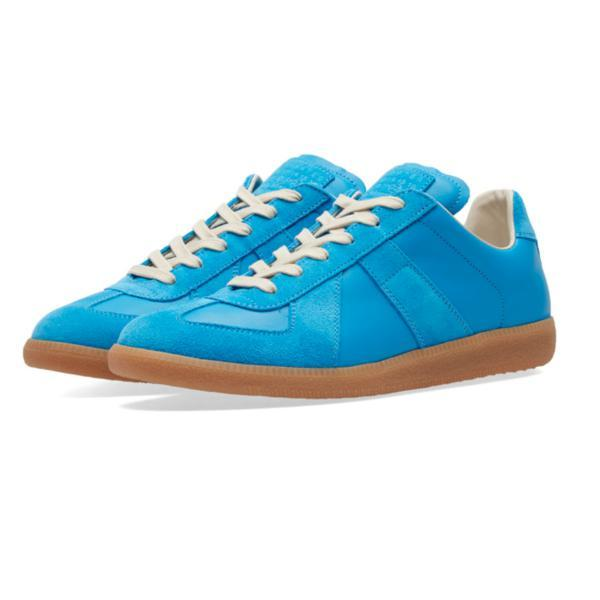 MAISON MARGIELA Mens Replica Low Trainer, Light Blue-OZNICO