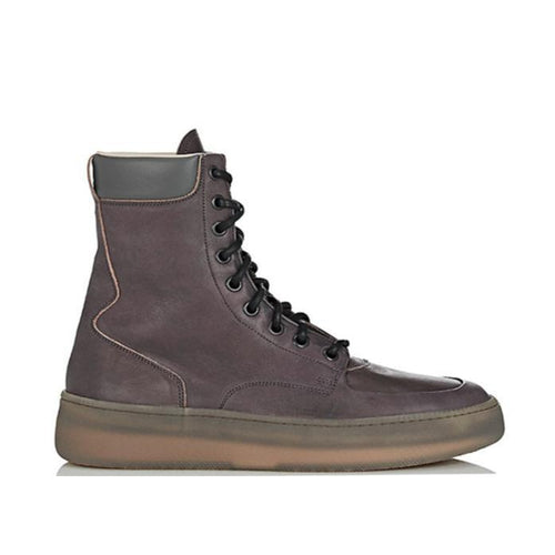 MAISON MARGIELA Men's Zippered Boots, Grey-OZNICO