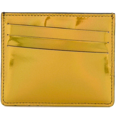 MAISON MARGIELA Mirrored Bicolor Credit Card Holder, Metallic Gold-OZNICO