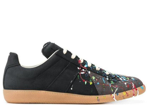 MAISON MARGIELA Replica Low, Black Paint Splatter-OZNICO