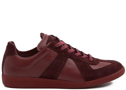 MAISON MARGIELA Replica Low Sneakers, Bordeaux-OZNICO