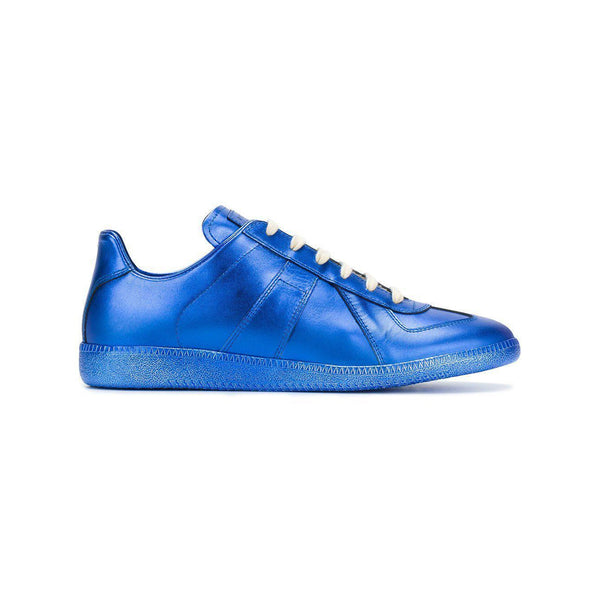 MAISON MARGIELA Replica Low Trainer, Metallic Blue-OZNICO