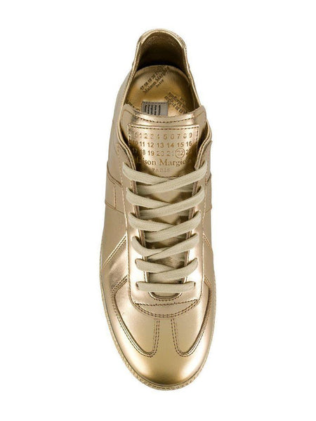 MAISON MARGIELA Replica Low Trainer, Metallic Gold-OZNICO