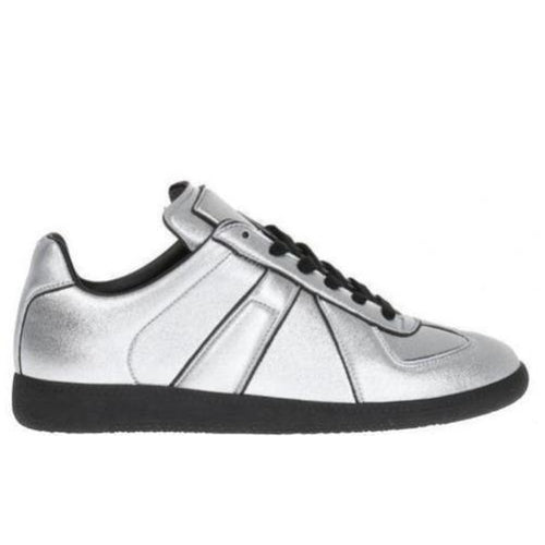 MAISON MARGIELA Replica Low Womens Trainer, Silver-OZNICO
