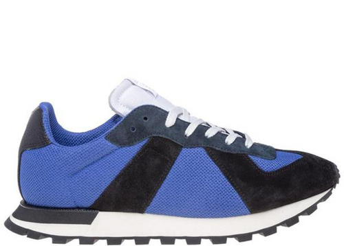 MAISON MARGIELA Retro Runner Sneaker, Navy/ Electric Blue-OZNICO
