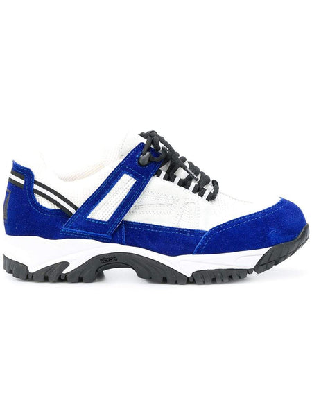 MAISON MARGIELA Security Sneakers, White/ Blue-OZNICO