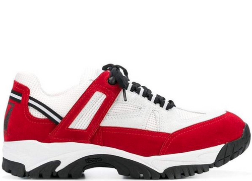 MAISON MARGIELA Security Sneakers, White/ Red-OZNICO
