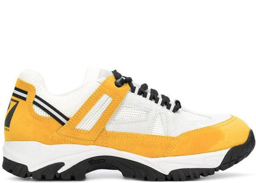 MAISON MARGIELA Security Sneakers, White/ Yellow-OZNICO
