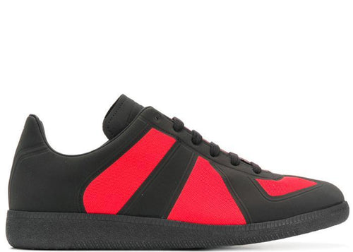 MAISON MARGIELA Two-tone Replica Low Trainer, Black/ Red-OZNICO