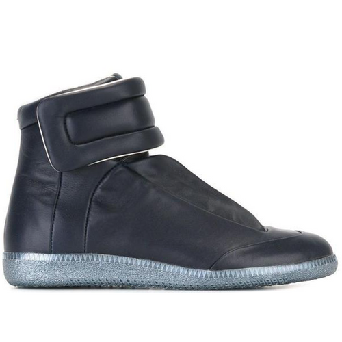 MAISON MARGIELA Women's Future Hi Sneakers, Navy-OZNICO