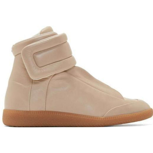MAISON MARGIELA Womens Future Hi-Top Sneaker, Tan-OZNICO