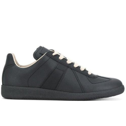MAISON MARGIELA Womens Low Replica Trainer, Black-OZNICO