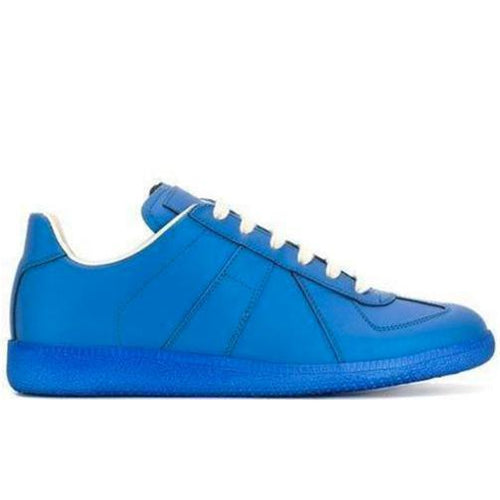 MAISON MARGIELA Womens Low Replica Trainer, Blue-OZNICO
