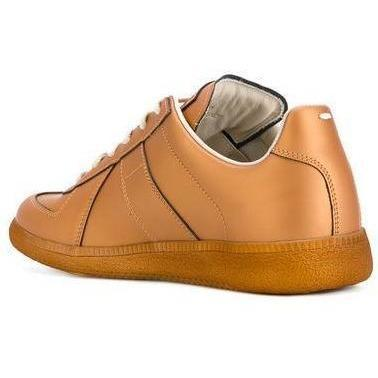 MAISON MARGIELA Womens Low Replica Trainer, Bronze-OZNICO