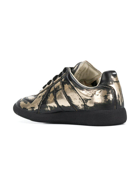 MAISON MARGIELA Womens Replica Low Trainer, Gold-OZNICO