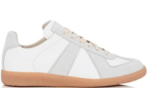 MAISON MARGIELA Womens Replica Low Trainer, White-OZNICO