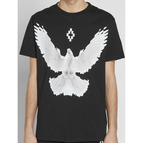 MARCEL BURLON Dove T-Shirt, Black/White-OZNICO