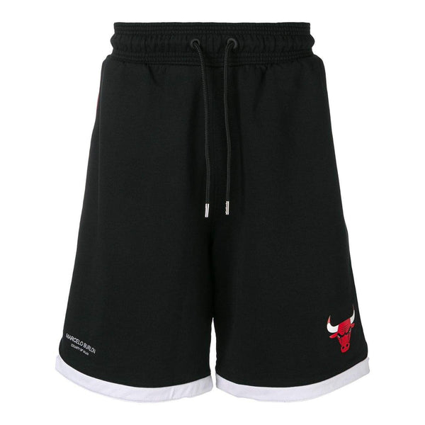 MARCELO BURLON Chicago Bulls Tape Shorts, Black/ Multi-OZNICO
