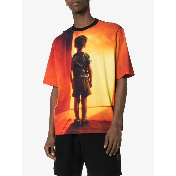MARCELO BURLON Close Encounters All Over Print T-Shirt, Black/ Multi-OZNICO