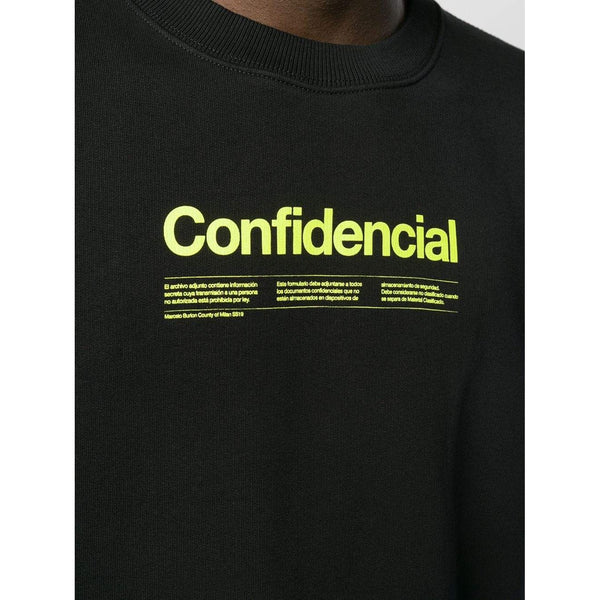MARCELO BURLON Confidential Sweatshirt, Black/ Multi-OZNICO