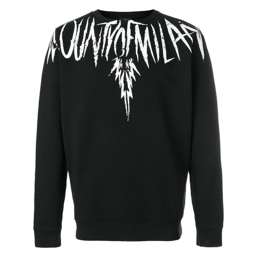 MARCELO BURLON County Wings Crewneck, Black-OZNICO