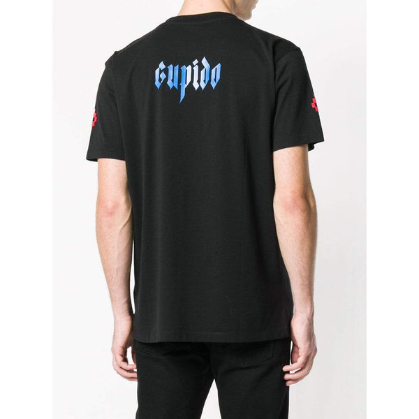 MARCELO BURLON Cupid Graphic Print T-Shirt, Black-OZNICO