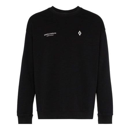 MARCELO BURLON Heart Wings Crewneck, Black