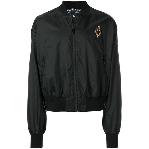MARCELO BURLON Fire Cross Bomber Jacket, Black-OZNICO