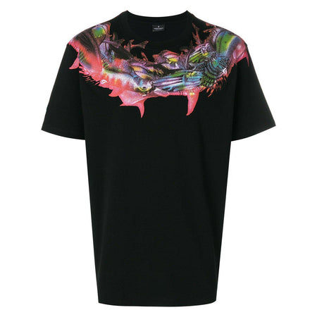 MARCELO BURLON Snake Wing T-Shirt, Black/ White